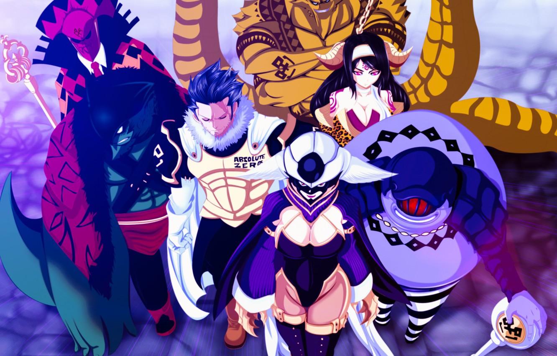 Фото обои demon, game, armor, devil, anime, evil, asian, manga, wizard, witch, japanese, Fairy Tail, oriental, asiatic, …