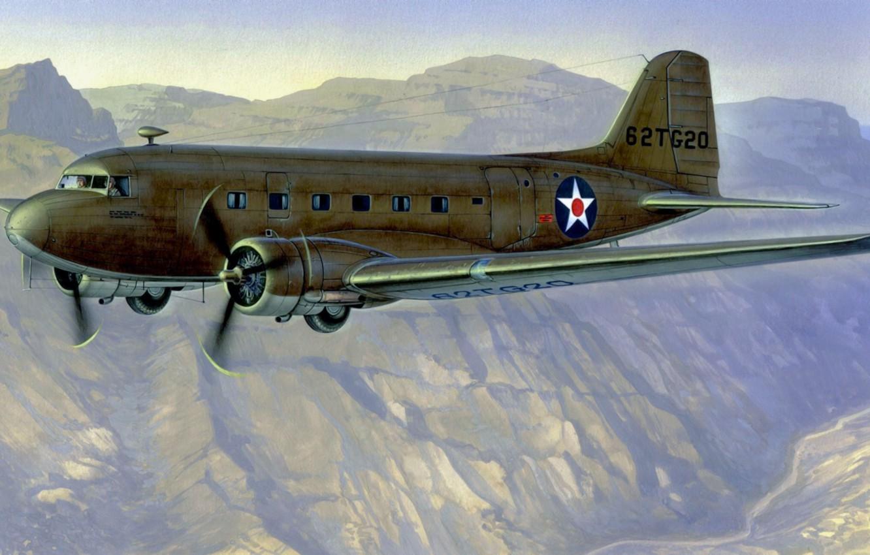 Обои Дуглас c-47, американский. Авиация foto 10