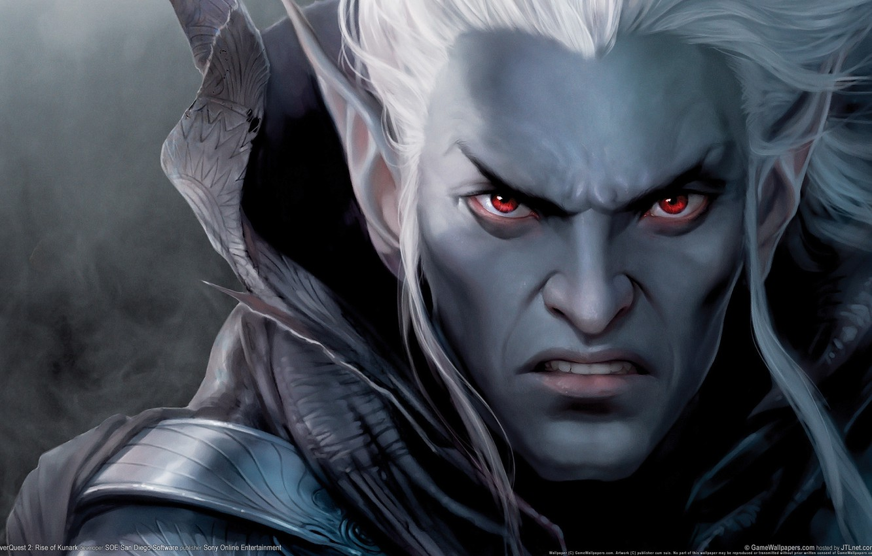 Фото обои эльф, игра, воин, дроу, EverQuest 2, Rise of Kunark