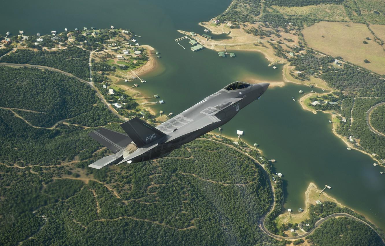 Обои F-35, lightning ii, истребитель, бомбардировщик, суша. Авиация foto 12