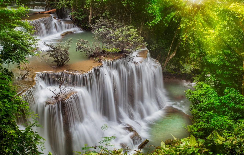 Обои каскады, тайланд, красиво. Природа foto 12
