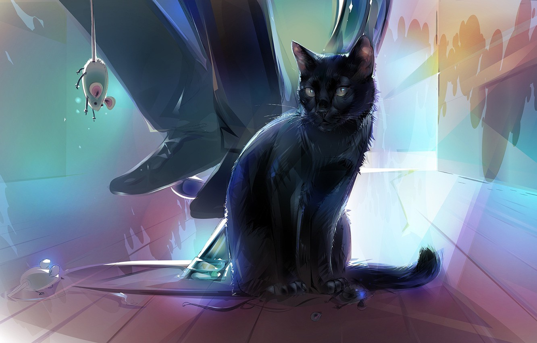 Картинки кошек аниме арт