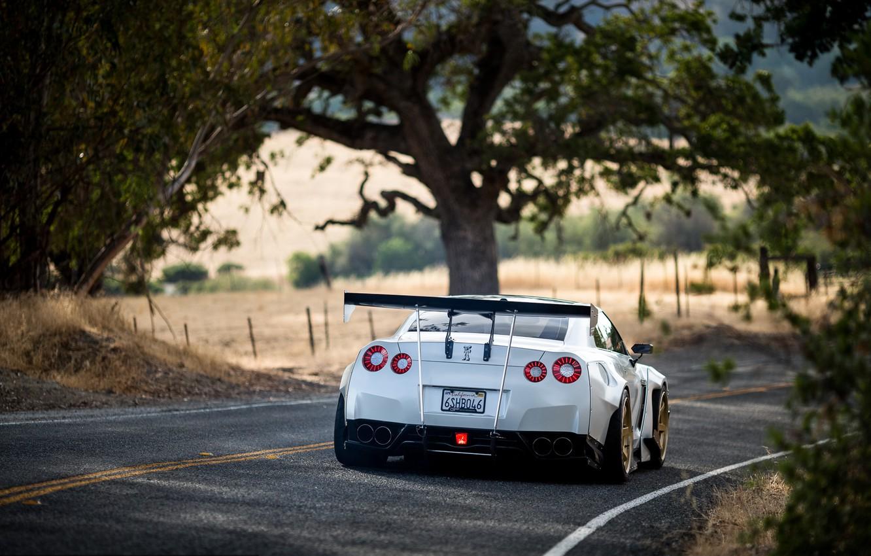 Фото обои GTR, Nissan, GT-R, R35, Rocket Bunny, Volk, Rays Wheels, Kei Miura, TE37