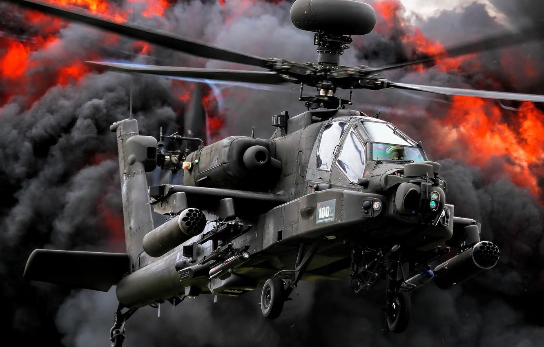 Обои ударный, Apache, дым, основной, «апач». Авиация foto 6