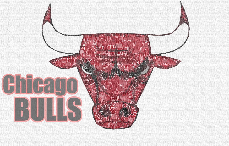 Фото обои Баскетбол, Фон, Логотип, NBA, Chicago Bulls, Быки