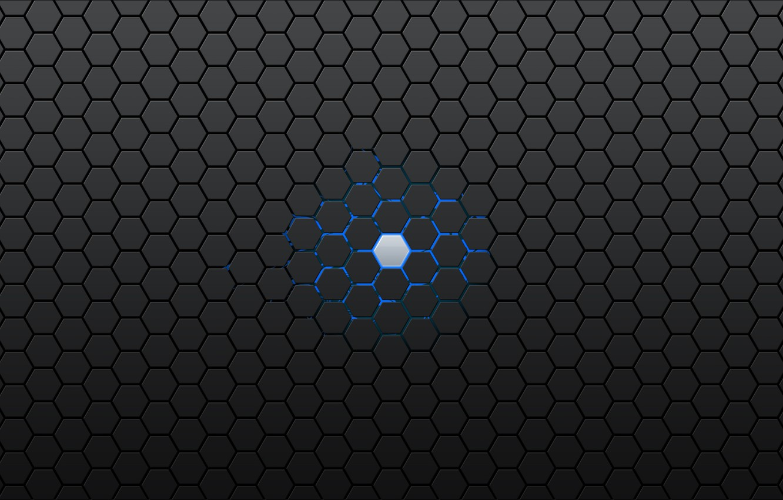 Фото обои синий, серый, шестигранник