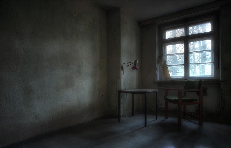 Фото обои стол, комната, окно, стул