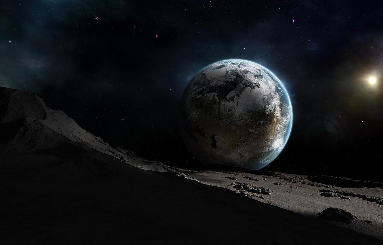 Фото обои космос, фантазия, планеты