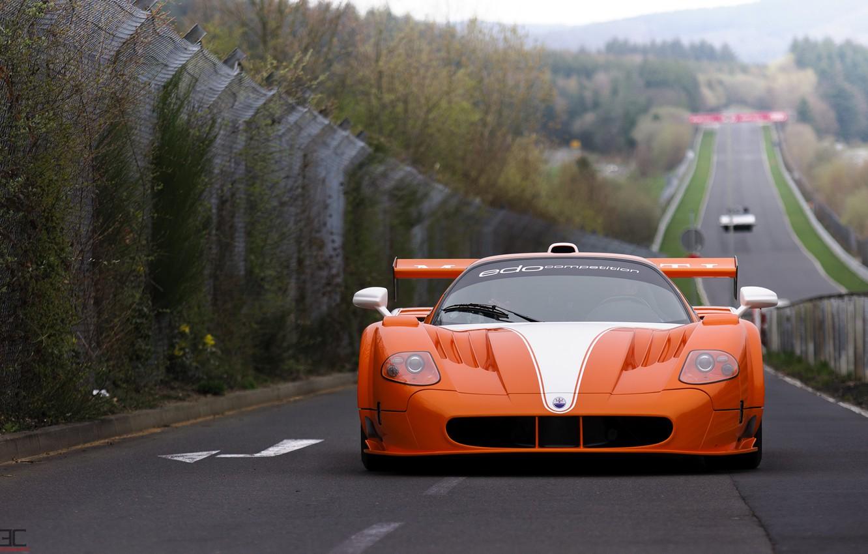 Фото обои Maserati, суперкар, Gran Turismo, MC12, Nurburgring