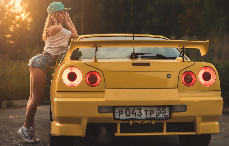 Фото обои девушка, жёлтый, кепка, nike, Evgeniy Savin