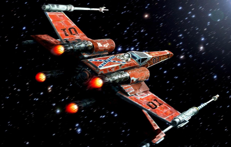 Фото обои Star Wars, Art, Starfighter, X-Wing