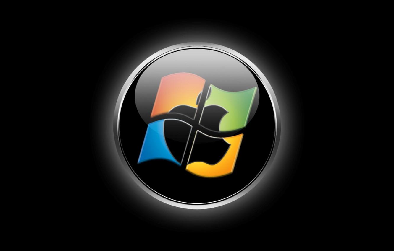 Фото обои компьютер, apple, логотип, эмблема, windows