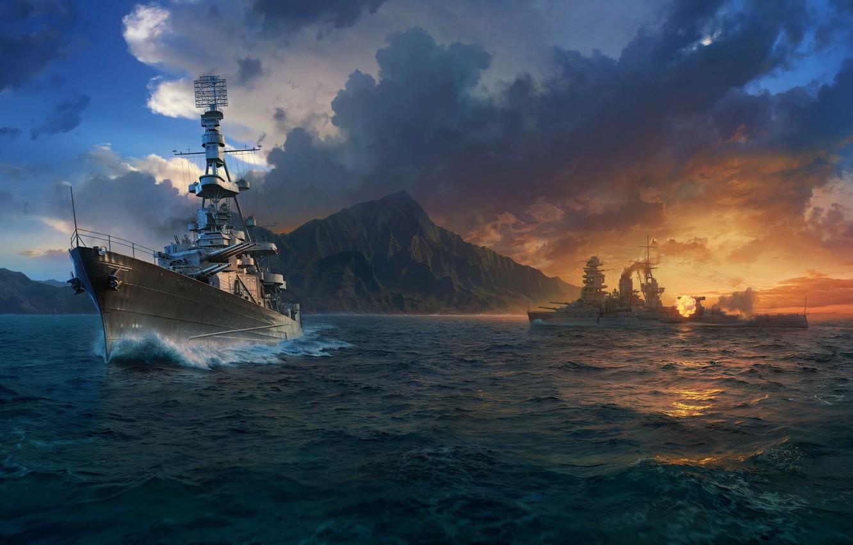 Фото обои Wargaming Net, WoWS, World of Warships, Мир Кораблей
