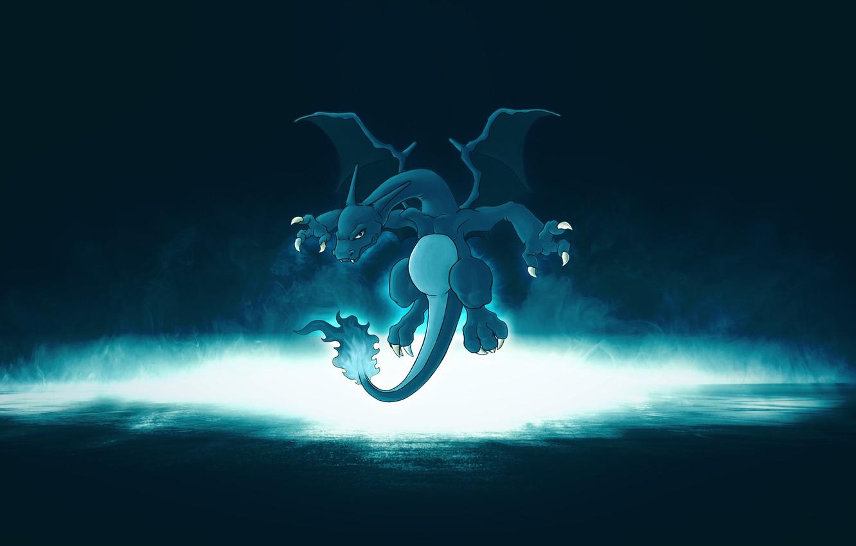 Фото обои огонь, дракон, горит, покемон, pokemon, Charizard, Чаризард