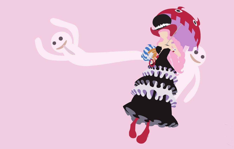 обои Kawaii Girl Zombie Game Ghost One Piece Pink Hair
