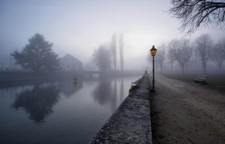 Обои туман. Города foto 6
