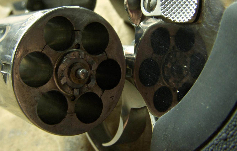 Фото обои макро, пистолет, барабан, курок