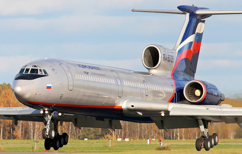 Фото обои аэрофлот, Ту-154, Tupolev, Туполев, Tu-154M, Aeroflot, Ту-154М