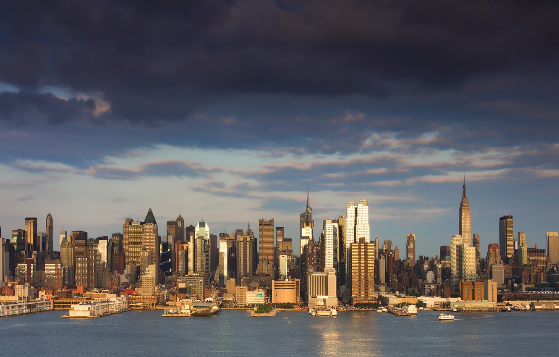 Фото обои город, здания, дома, Нью-Йорк, небоскребы, USA, США, NYC, New York City, высотки