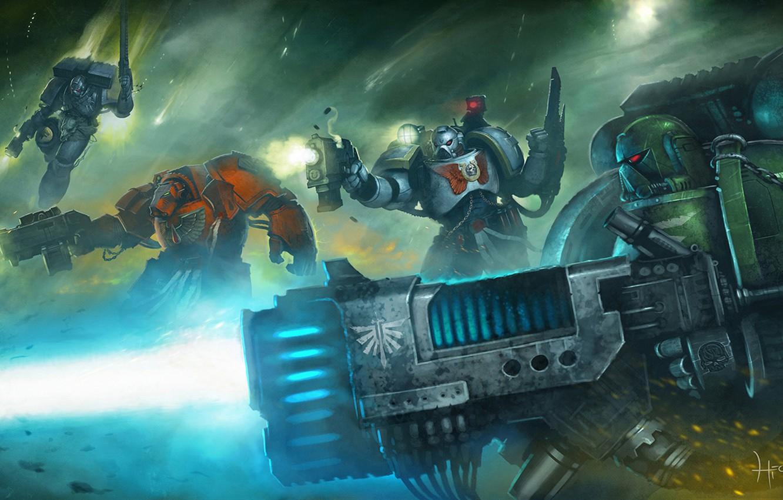Фото обои Dark Angel, Warhammer 40000, space marine, Eternal Crusade, space wolf., Long War