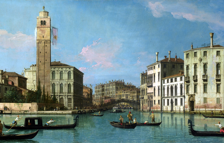 Обои Ступени, дома, венеция, лодка, утро, канал. Города foto 13