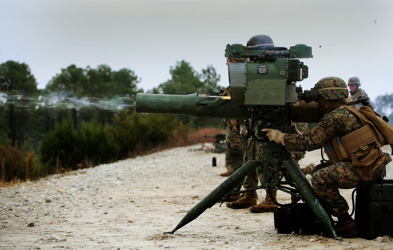 Фото обои оружие, солдаты, ракетный, комплекс, тяжёлый, Saber, противотанковый, M41A4