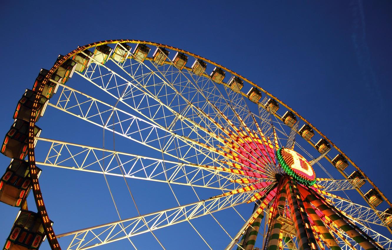 Фото обои Германия, аттракцион, Germany, Штутгарт, Stuttgart, Колесо Обозрения, Ferris Wheel, Чертово Колесо