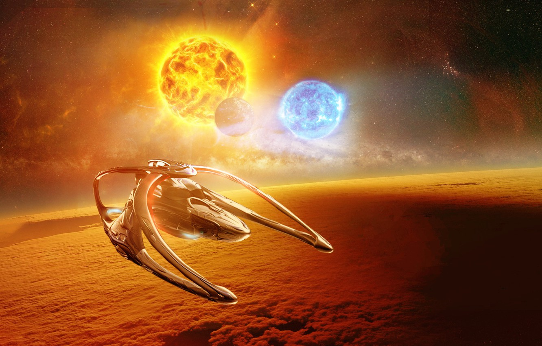 Фото обои Andromeda, Space, Sun, Ascendant