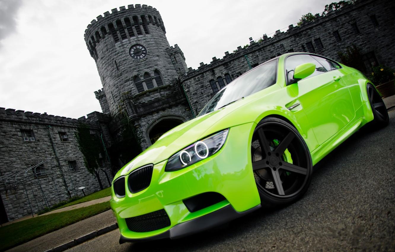 Фото обои зеленый, фото, обои, cars, auto, wallpapers, BMW M3