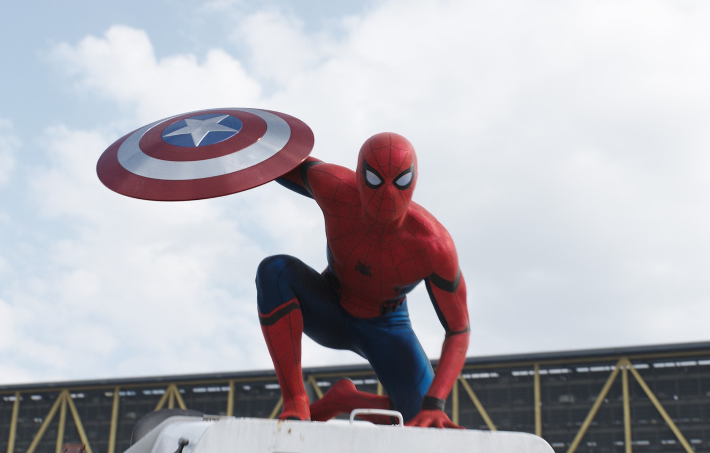 Фото обои Первый мститель, Человек Паук, Captain America: Civil War, Противостояние