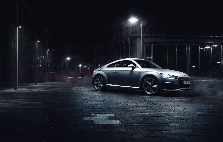 Фото обои Audi, night, silvery