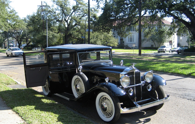 Фото обои фото, Черный, Ретро, Автомобиль, 1932, Металлик, Packard 1