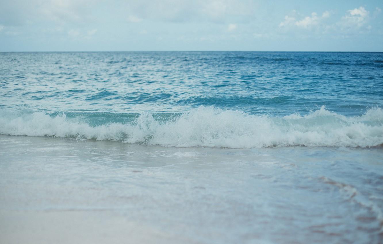 Обои волны, горизонт. Природа foto 8