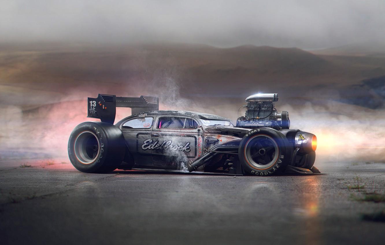 Фото обои Volkswagen, Power, Beetle, Tuning, Future, Rat Rod, Engine, Hugo Silva