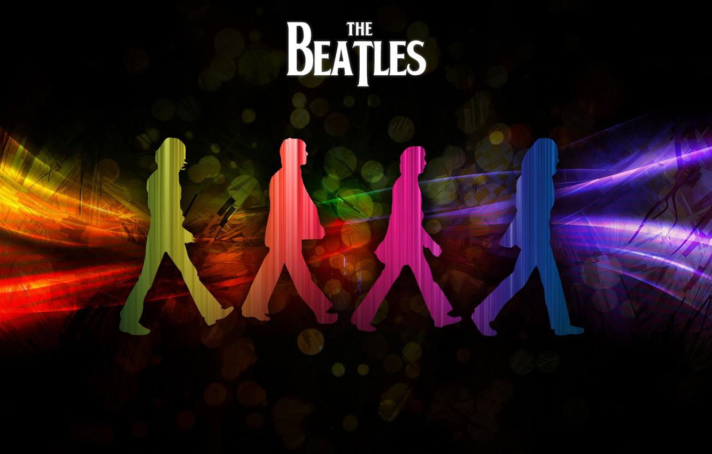 Фото обои радуга, beatles, George Harrison, Paul McCartney, John Lennon, Ringo Starr, abby road