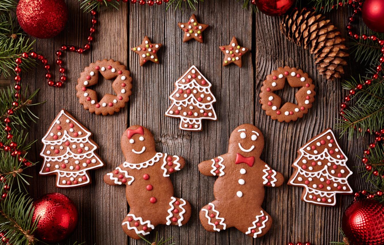 Обои decoration, рождество, xmas, cookies, Merry, christmas. Новый год foto 11