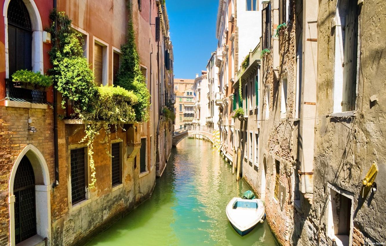 Обои лодка, канал, венеция. Города foto 9