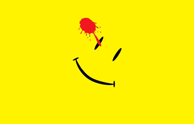 Фото обои абстракция, улыбка, клякса, Watchmen