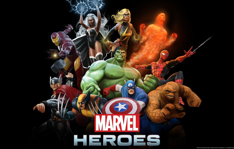 Фото обои Существо, Шторм, Росомаха, Халк, steam, Капитан Америка, Тор, Железный Человек, Marvel Heroes, Человек Паук, Человек …