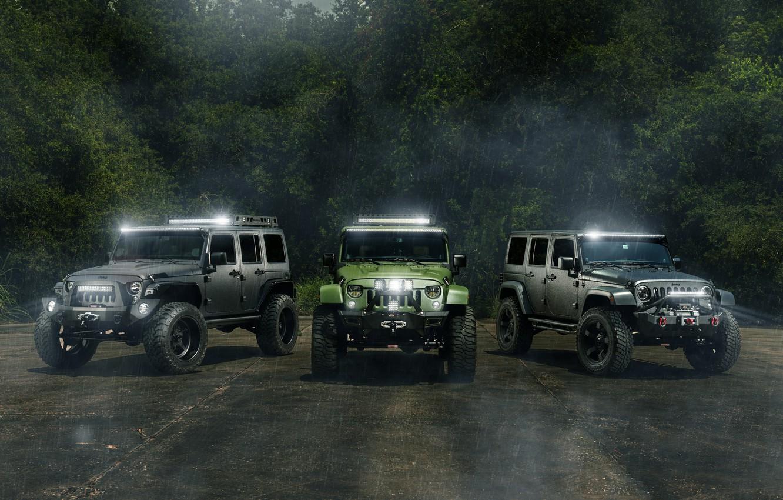 Фото обои car, джип, внедорожник, jeep, wrangler, hq wallpaper, William Stern