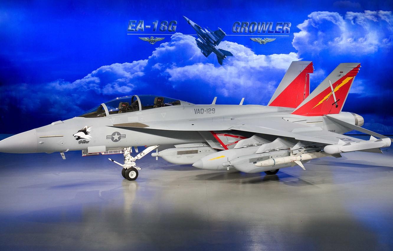Обои Boeing ea-18, growler, Самолёт, палубный. Авиация foto 9