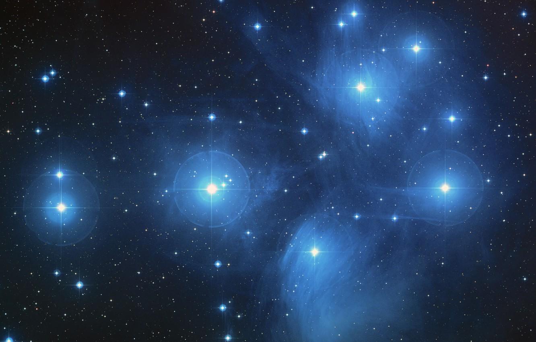 Фото обои космос, туманность, галактика, система