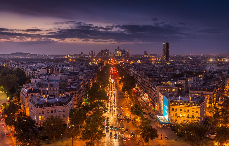 Обои ночной париж. Города foto 15