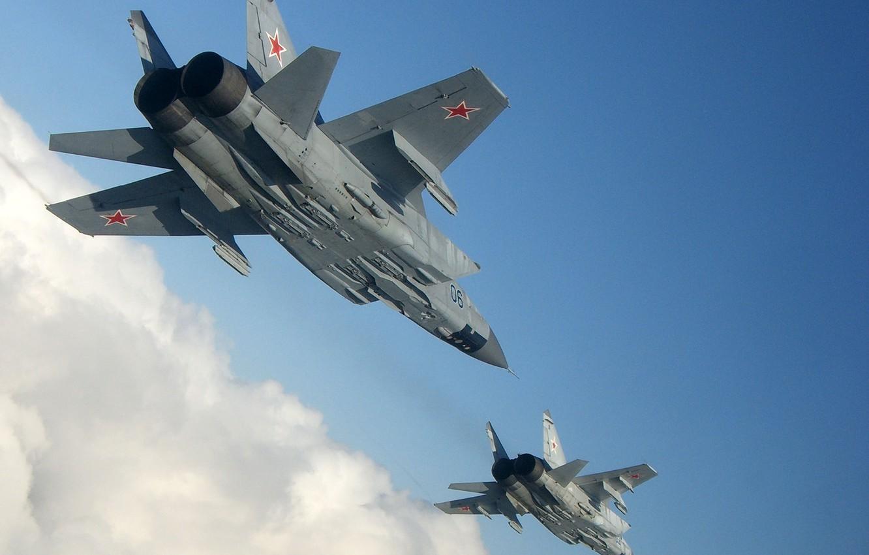Обои ввс, миг-31, перехватчик, россии, истребитель, Самолёт. Авиация foto 10