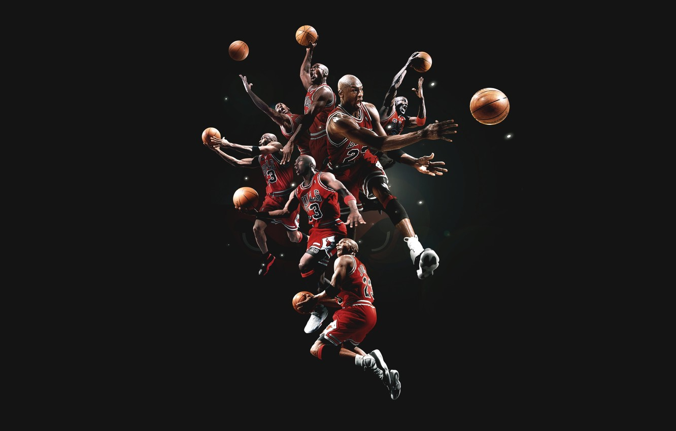 Фото обои Баскетбол, Michael Jordan, Chicago Bulls, Легенда, Игрок