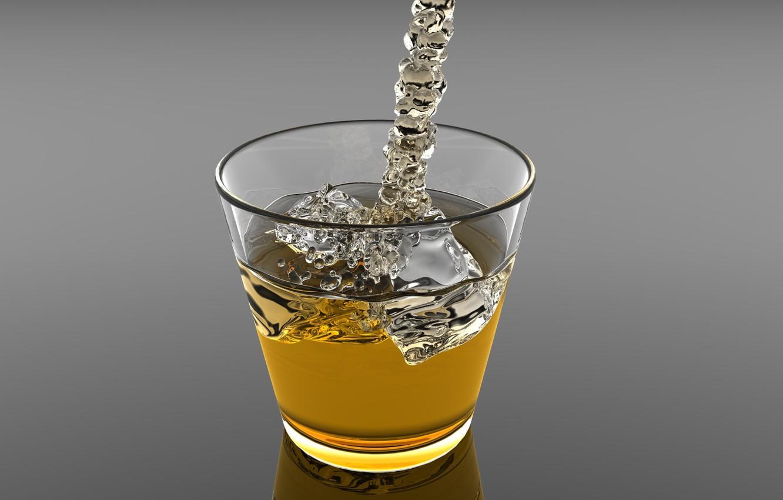 Фото обои лед, стакан, напиток