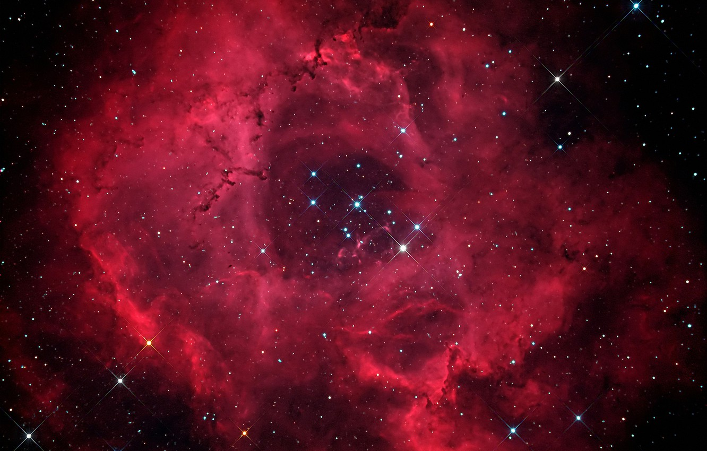 Фото обои звезды, туманность, Розетка, NGC 2244, NGC 2237
