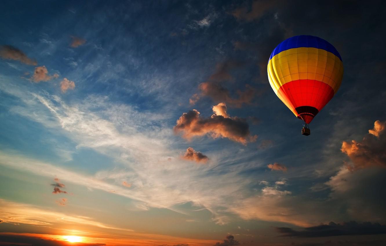 Обои Облака, Пейзаж, воздушный шар. Авиация foto 14