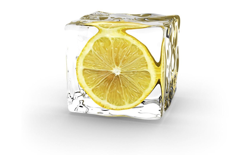 Фото обои минимализм, Лимон, Ice Cube
