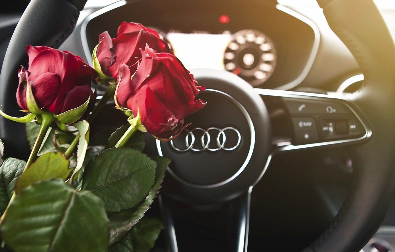 Картинки розы и машина